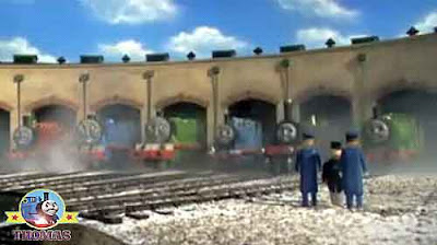 The Fat Controller at Tidmouth sheds express Gordon James Percy and Thomas the tank engine friends