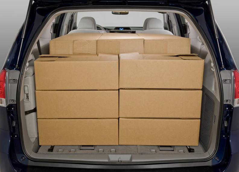Toyota sienna cargo capacity