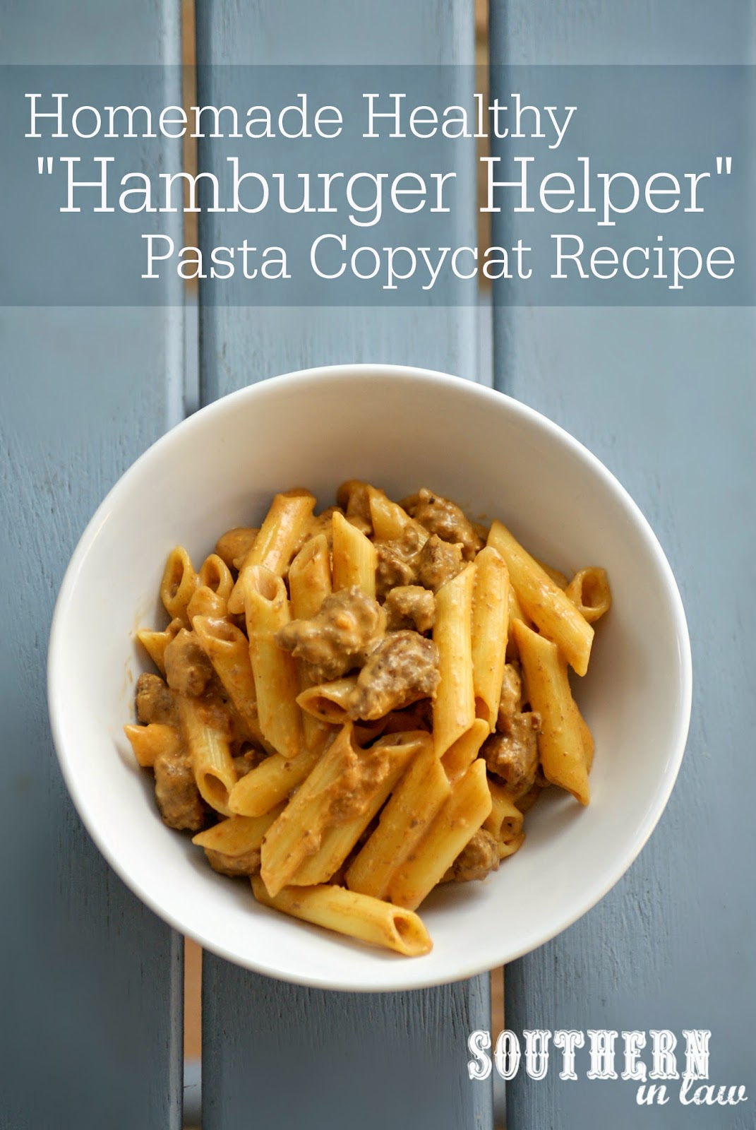 Gluten Free Homemade Hamburger Helper Pasta Copycat Recipe - low fat, gluten free, clean eating friendly, all natural, healthy