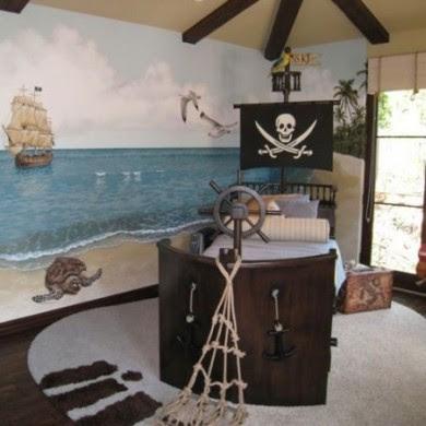 habitacion infantil esto pirata