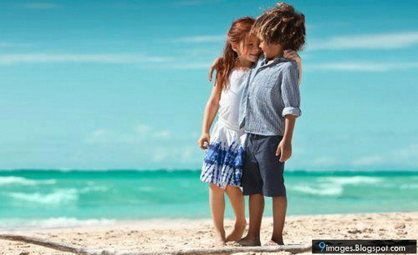 Cute Kids Couples at the Beach Picture