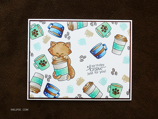 Coffee Card by Simon Hurley | Newton Loves Coffee Stamp set by Newton's Nook Designs #newtonsnook #coffee