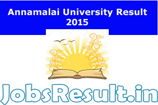 Annamalai University Result 2015