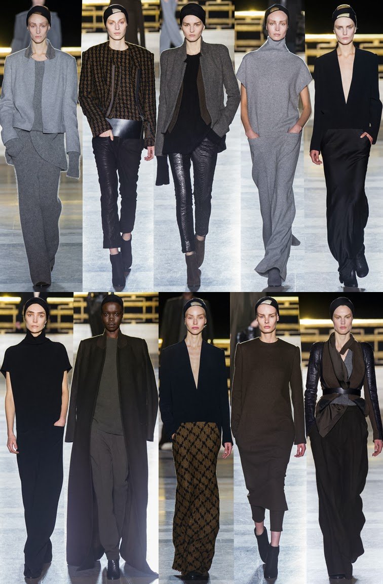 Haider Ackermann fall winter 2014 runway collection, PFW, Paris fashion week, FW14, AW14