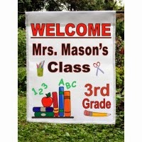welcome to class personalized garden flag