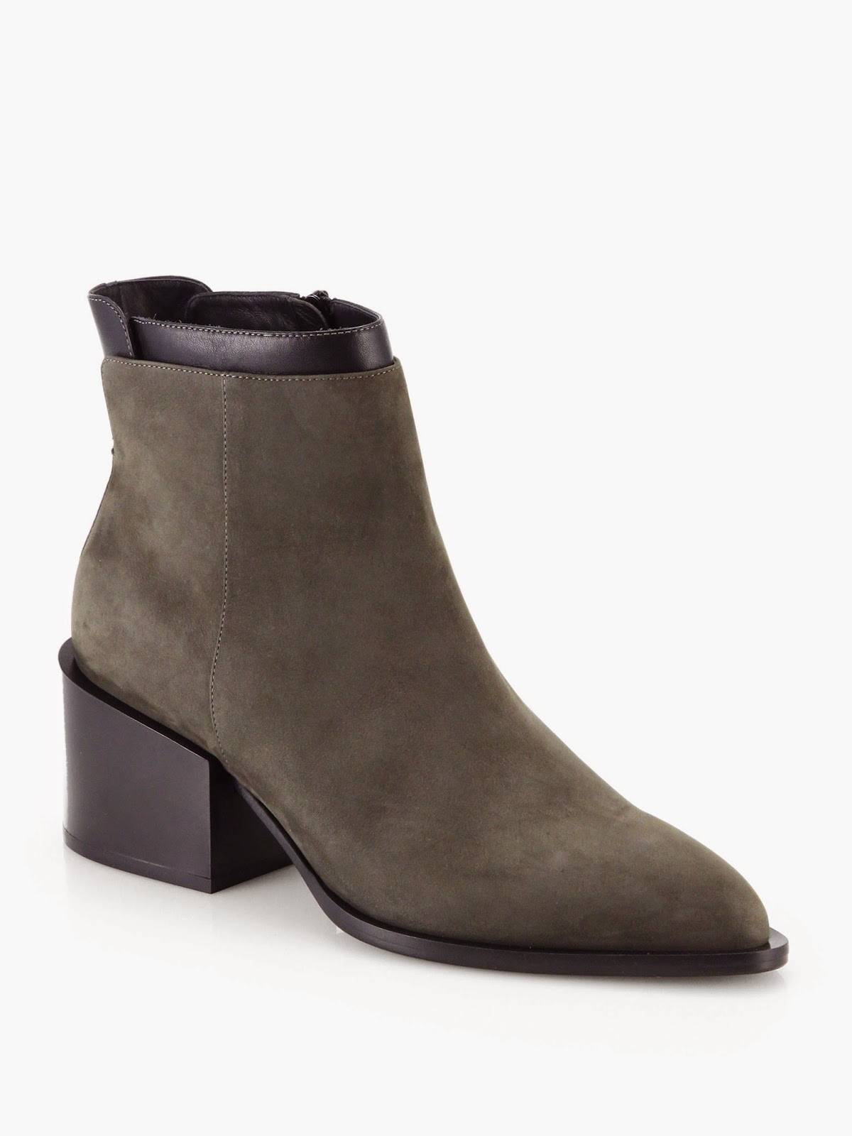Saks Fifth Ave Vince Laura suede and leather ankle boots