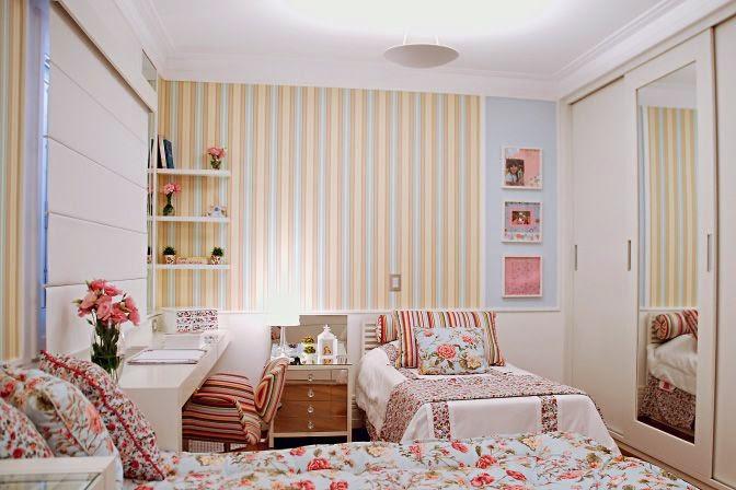 Decoração quarto de menina floral Jeito de Casa Blog  ~ Quarto Feminino Pequeno Simples