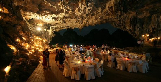 Dinner in Cave - Dragon Pearl Cruise