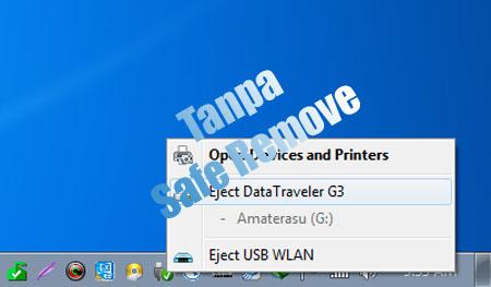 Cara Aman Mencabut USB Flashdisk Tanpa Safe Remove