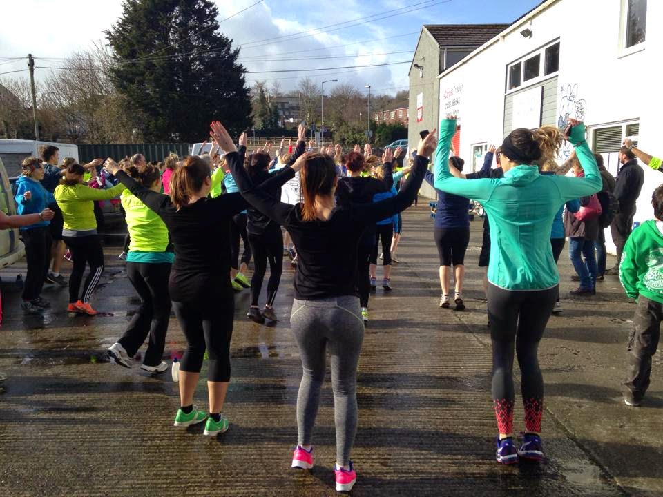 Warming up in Wadebridge at The big run Cornwall 2015
