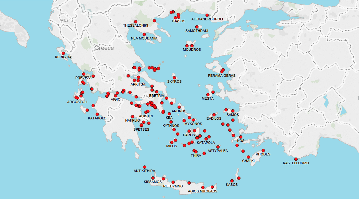 Ports in Greece