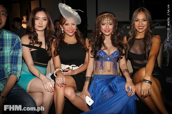 danita paner, bangs garcia,gretchen fullido and aubrey miles at 2013 fhm halloween ball 0