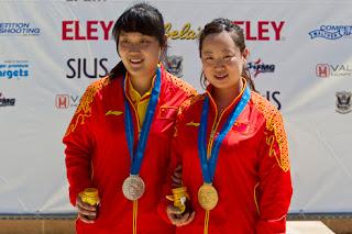 Wu e Chang - China - Carabina de Ar 10m - Copa do Mundo ISSF de Carabina e Pistola 2013 - Tiro Esportivo