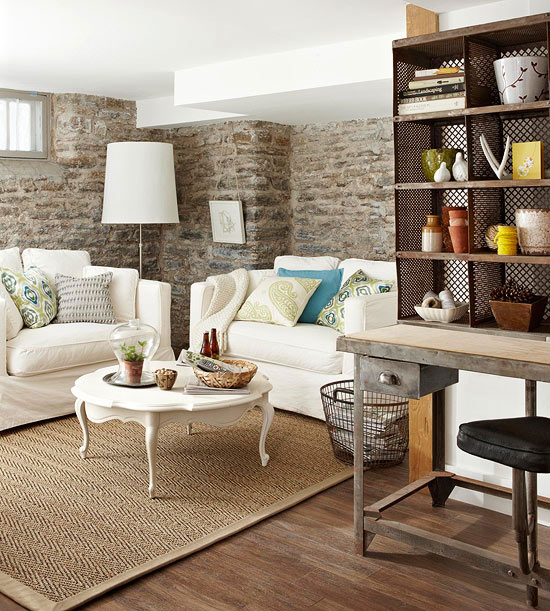 Living Room Design Brick Wall