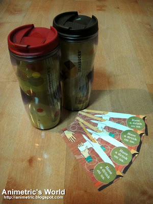 Starbucks Tumbler + Tall Drink Vouchers