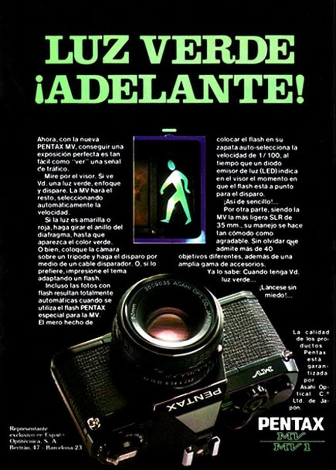 Pentax Publicidad creativa de los años 80