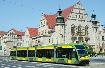 Tram Passing Zamek (Castle)