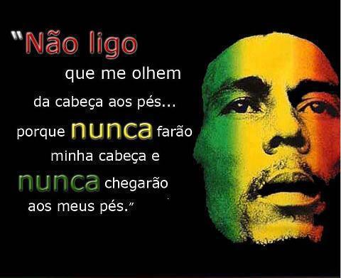 Mensagem para o Facebook Bob Marley