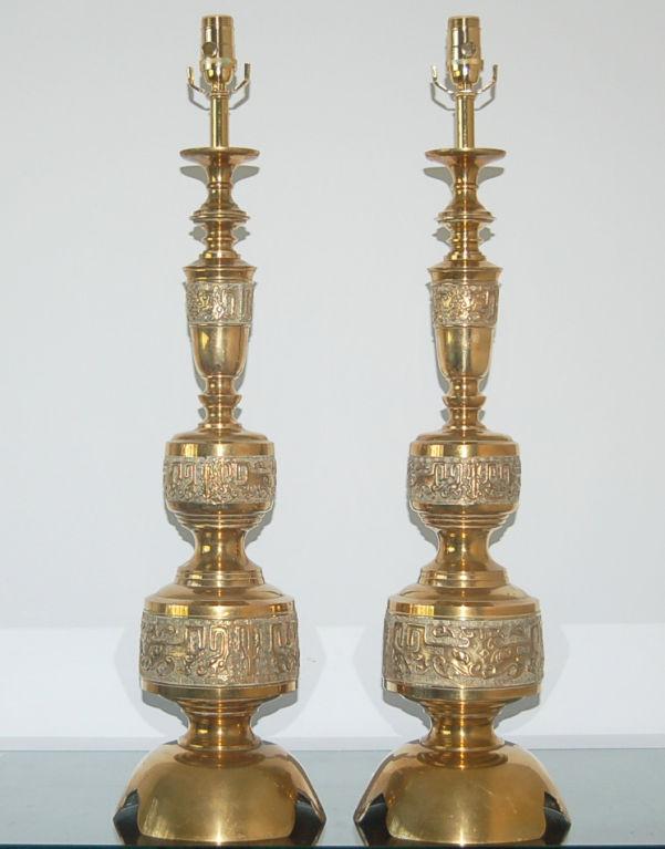the design enthusiast vintage love brass table lamps. Black Bedroom Furniture Sets. Home Design Ideas