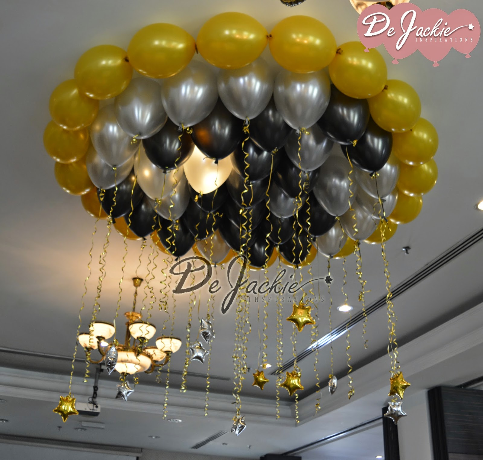Balloon decorations for weddings birthday parties for Balloon decoration ideas no helium
