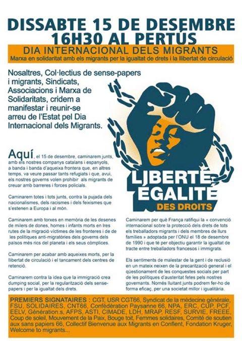 15 de desembre, Jornada Internacional de les i dels migrants