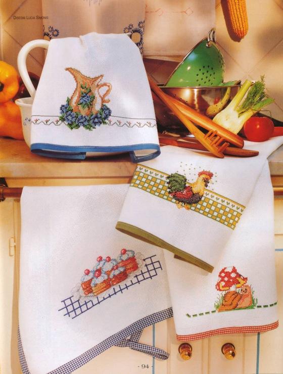 Grande raccolta di schemi e grafici per punto croce free - Strofinacci da cucina ...