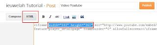 menambahkan video youtube di postingan