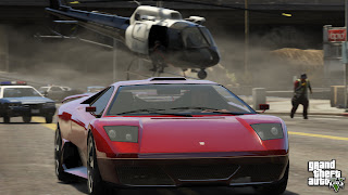 Grand Theft Auto V  red car