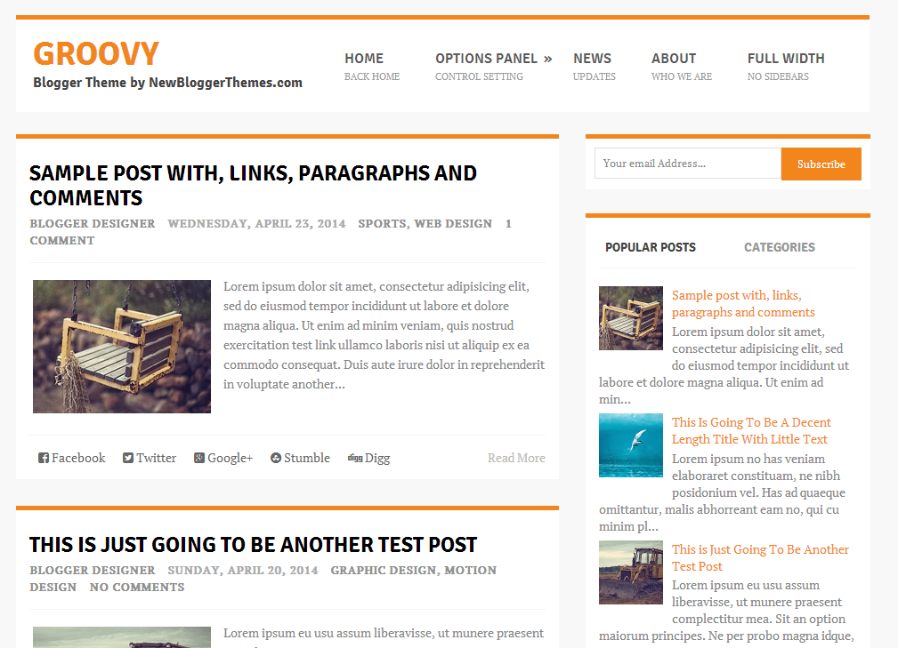 Share Groovy Blogger Template