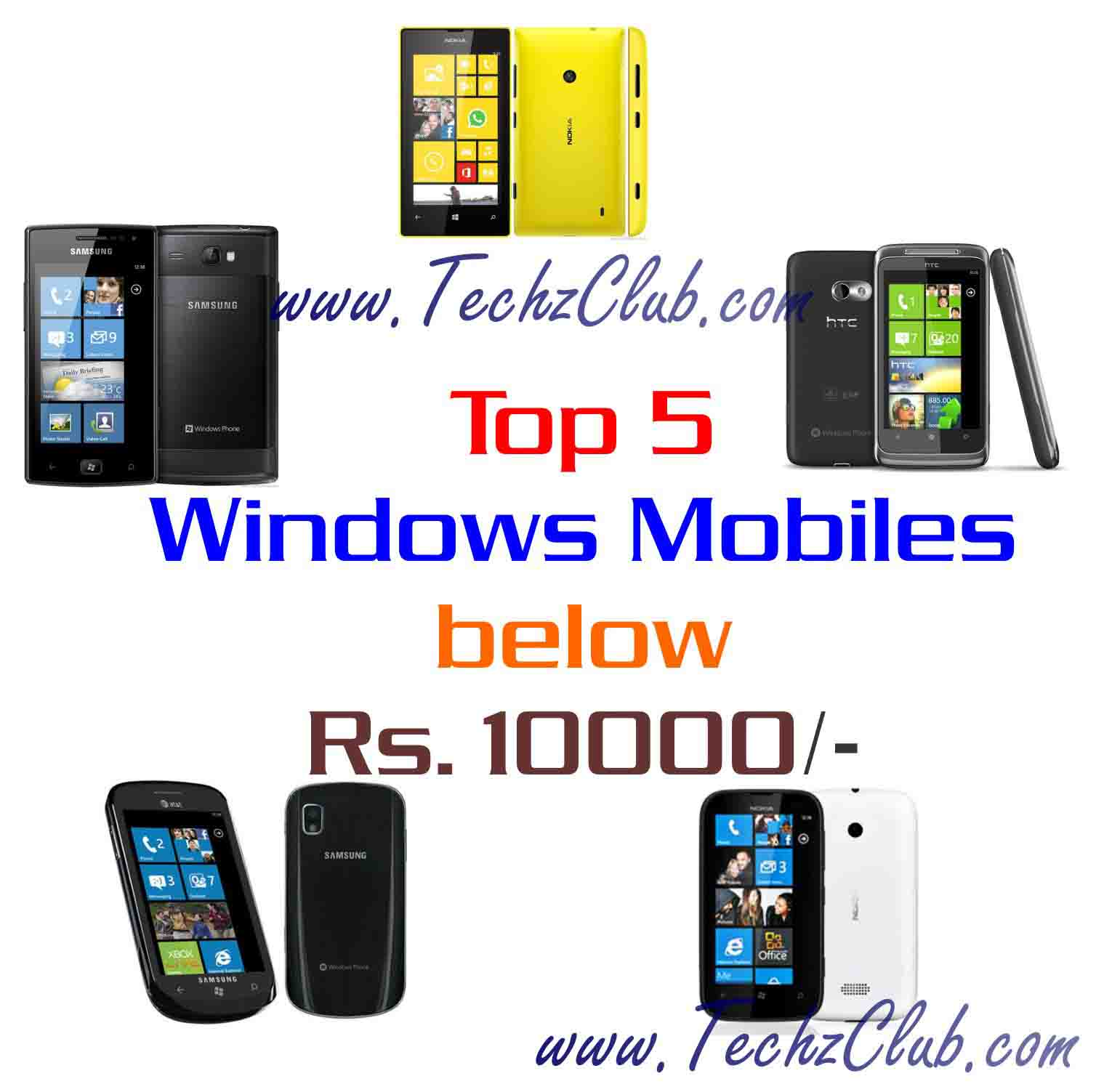 Top 5 Windows Phones below 10000