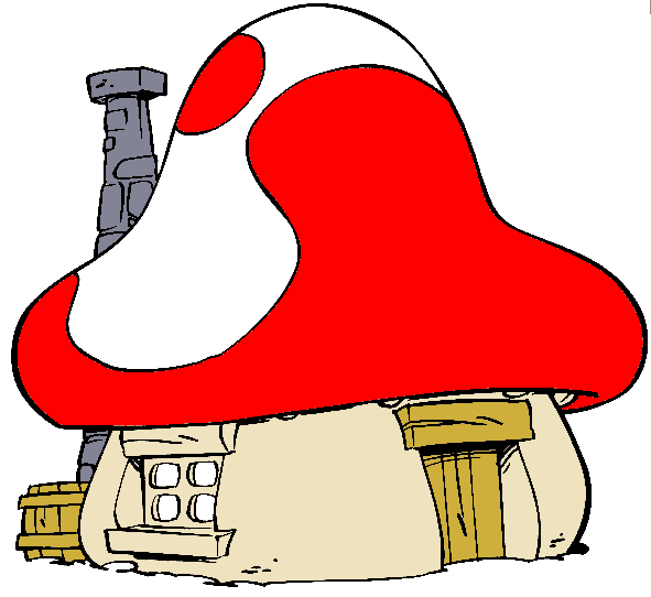 how to draw smurf house