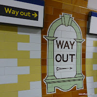 London Underground way out