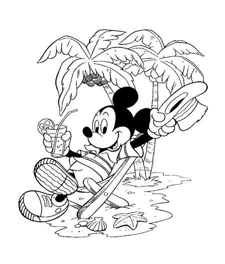 Desenhos Preto e Branco mickey Colorir