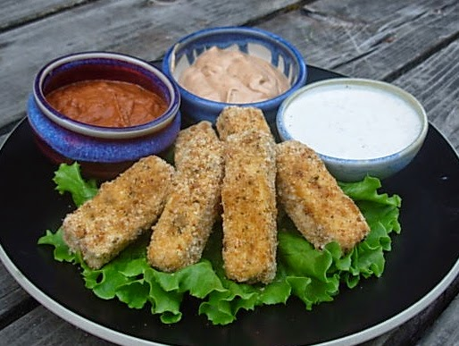From kirsten 39 s kitchen to yours tofu fish sticks with 3 for Dipping sauce for fish sticks