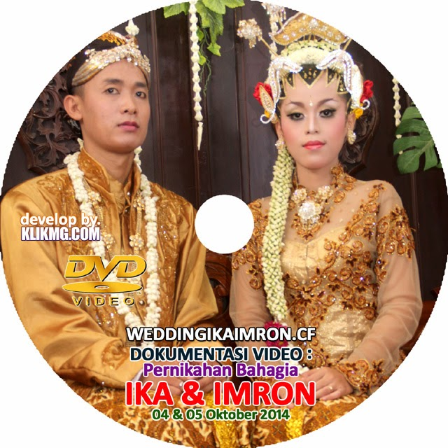 Cover Disc Video : Pernikahan IKA & IMRON