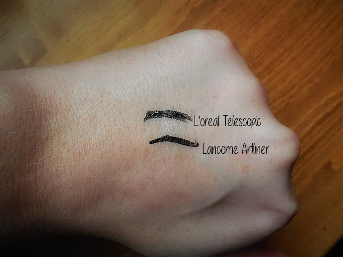 lancome artliner, loreal telescopic, makeup dupe