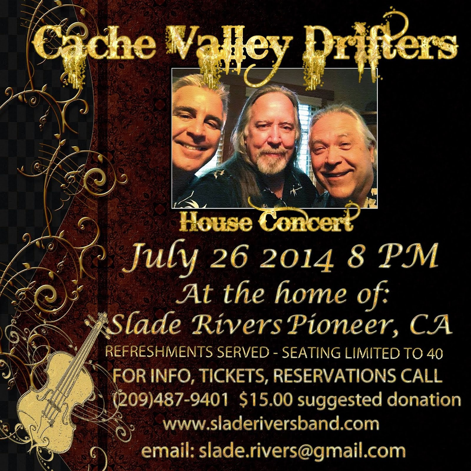 Cache Valley Drifters - Sat July 26