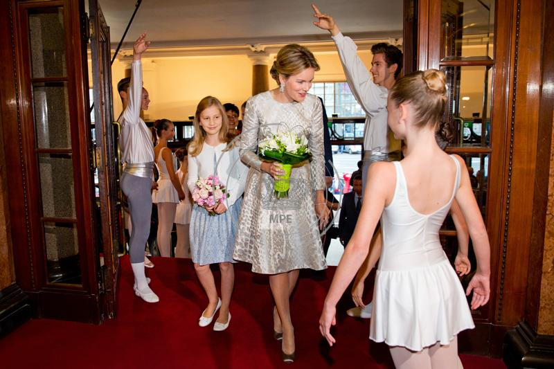 Queen Mathilde and Princess Elisabeth of Belgium visit the Genee International Ballet Competition at the Opera in Antwerp, Belgium