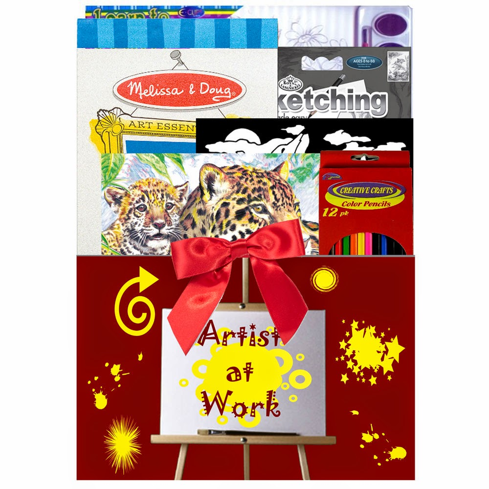 Kids Art Activities Gift Basket