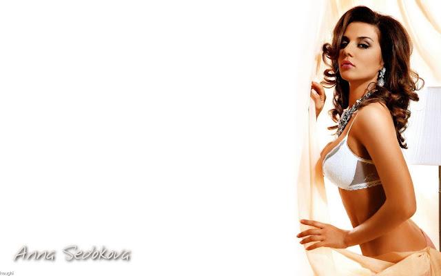 Anna Sedokova  sexy in lingerie fashion