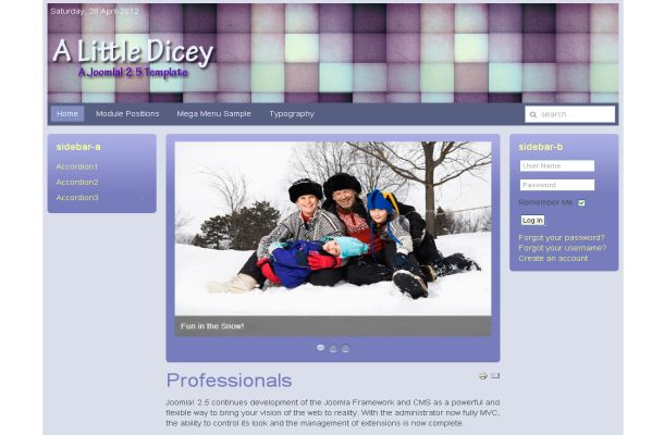 Free Joomla Blue Violet Business Theme Template