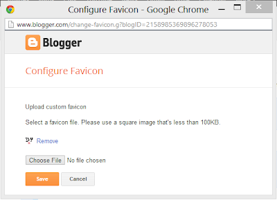 create Facicons blogger
