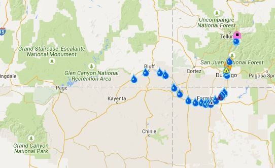Arizona Geology Ua Report Colorado River Water Quality Not: Map Of Colorado Gold Mine Spill At Usa Maps