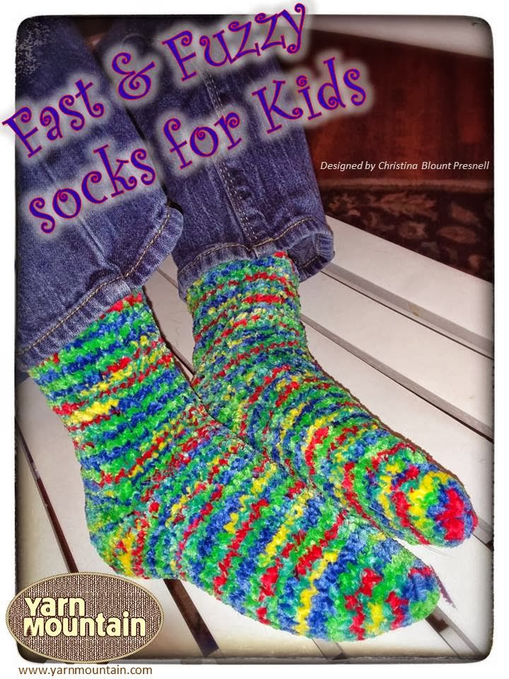 The Knitting Lodge Fast Fuzzy Socks For Kids