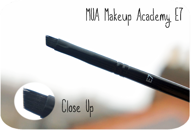 A close up and review of MUA Makeup Academy Eyebrow Brush E7