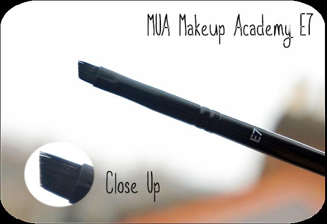 A close up and review of MUA Makeup Academy Eyebrow Brush E7