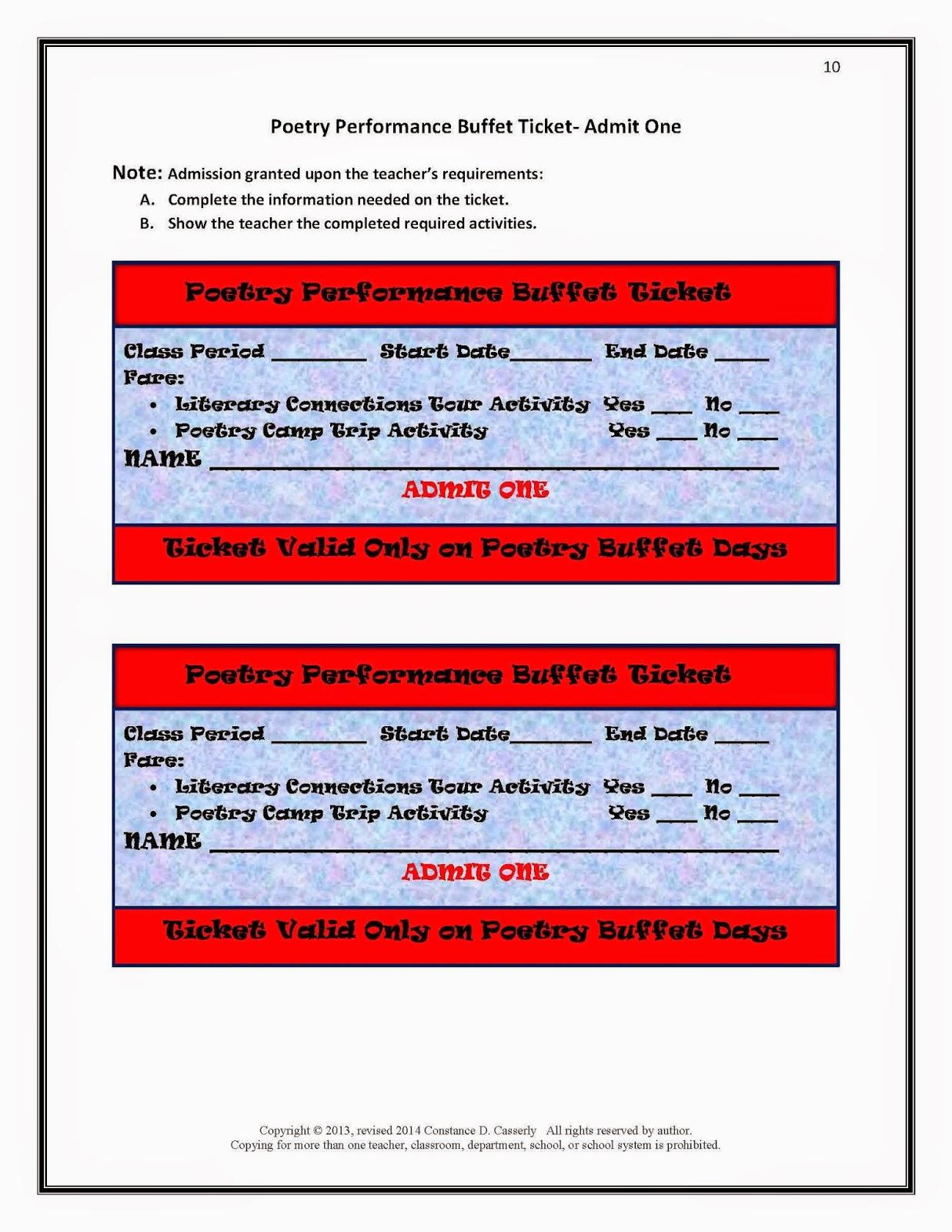 Performance Buffet Ticket