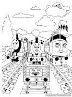 Buku Mewarnai Gambar Thomas Gratis Untuk Anak-Anak