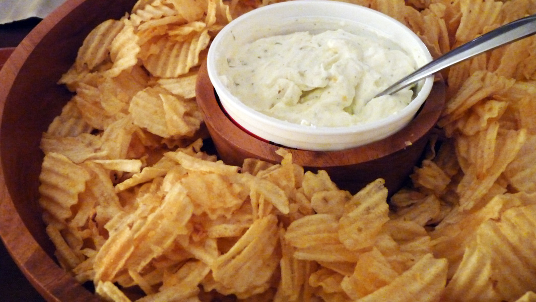 onion dip chips i love dip um like everybody duh