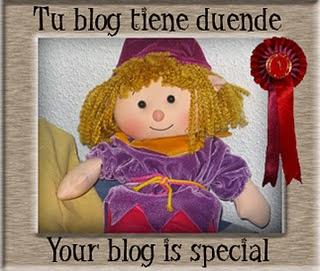 """Premio """"tu blog tiene duende"""""""